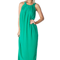 Green With Envy -Maxi Dress