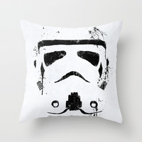 Trooper Throw Pillow by Purple Cactus