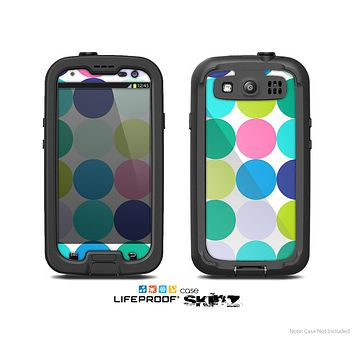 The Vibrant Colored Polka Dot V2 Skin For The Samsung Galaxy S3 LifeProof Case