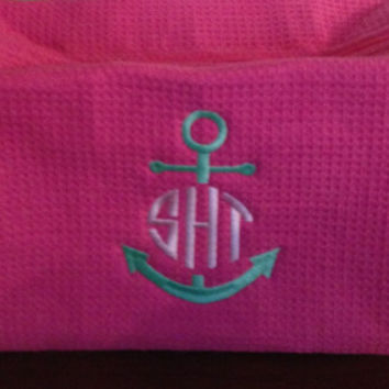 Anchor monogram cosmetic bag bridesmaids sorority