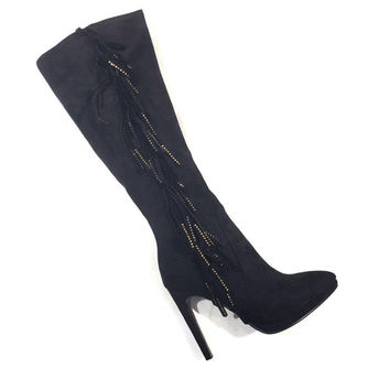 Lady Couture Black Crystal Sydney Boots