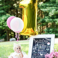 Giant Number Balloon | First Birthday Balloon | Giant Number 1 Balloon | First Birthday Decoration Number Balloon