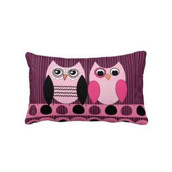 Cute Pink Owl Love Pillows from Zazzle.com