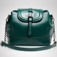 Emerald Metallic Shoulder Bag