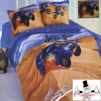 Jeep Dune Buggy Bedding Set and Quilt Cover