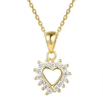 Solitaire Diamond Designer Heart Gift Pendant Necklace