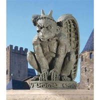 SheilaShrubs.com: The Cathedral Gargoyle Statue (Set of 2) DB924216 by Design Toscano: Garden Sculptures & Statues