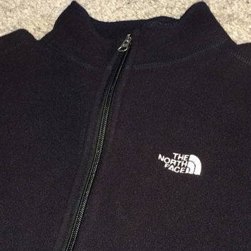 Sale!! Vintage THE NORTH FACE Women's black track jacket running exercise shirt