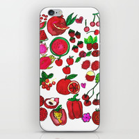 Red Fruits Drawing iPhone & iPod Skin by Shashira Handmaker