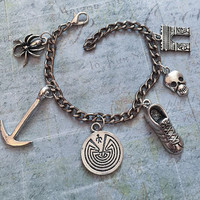 Maze Runner Inspired Charm Bracelet, Fandom Jewelry, Man In A Maze Jewelry, Runner Bracelet, Fangirl Jewelry