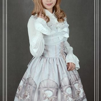 ac NOOW2 Soufflesong Exclusive Design Girl's Lolita Dress [The Universal Guardian] Printed JSK Dress Custom Tailored