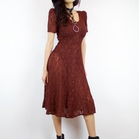 Witching in Red Vintage Dress