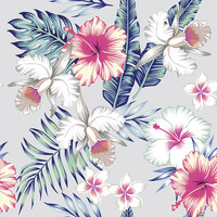 Honolulu Flowers Removable Wallpaper