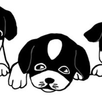 puppies dogs png clip art Digital Download graphics , digital images, puppy clipart animal wall art printables, black and white Art