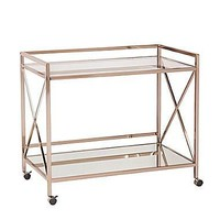 C & M Gold Rolling Bar Cart