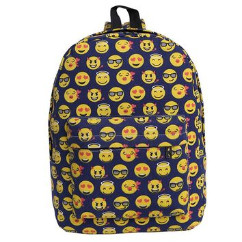 Emoji Backpack, Hynes Eagle Printed Emoji Kids School Backpack