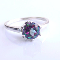Mystic Topaz Sterling Silver Ring made to order