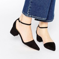 Truffle Collection Molly Ankle Strap Point Mid Heeled Shoes