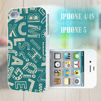 unique iphone case, i phone 4 4s 5 case,cool cute iphone4 iphone4s 5 case,stylish plastic rubber cases cover, blue  yellow letter   bp2125
