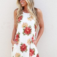 Island Vibes Pocket Dress {Ivory}