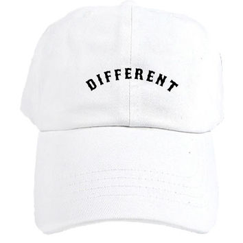 Different Arc Dad Hat in White