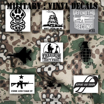 MILITARY vinyl decals - 28-36 - Army, Air Force, Navy and Marines - car decals - vinyl stickers - window decals