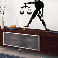 Vinyl Wall Decal Sticker Libra Zodiac Sign #435