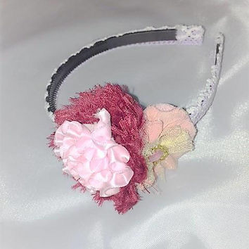 Easter Headband, Floral Headband, Easter Outfit, Easter Accessory, Gift for Girls, Spring Headband, Easter Gift, Easter Basket Fillers