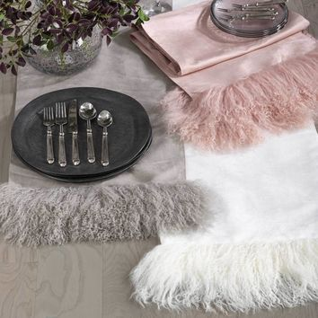 Mongolian Fur Table Runner | 72-Inch