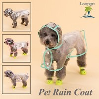 Fashion Pet Dog Raincoat Waterproof Dog Rain Coat Free Shipping