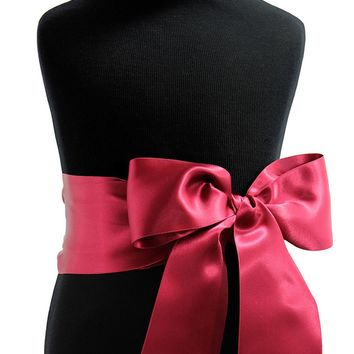 """3"""" Satin Ribbon Sash by Lille Couture"""