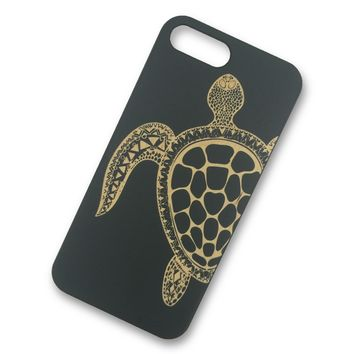 iPhone 7/7s PLUS - Turtle Wooden Phone Case