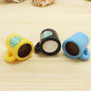 3 colors Cute Starbucks Coffee Cup Dust Plug -3.5mm Smart Phone Dust Stopper Earphone Cap Headphone Jack Charm for iPhone 4 4S 5 HTC Samsung