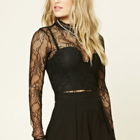 Contemporary Floral Lace Top