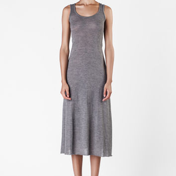 The Elder Statesman  - Cashmere and Silk Grey Dress