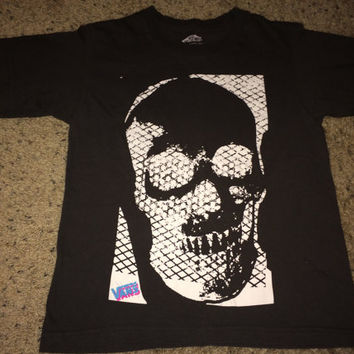 Sale!! Vintage VANS off the wall skull T shirt boys street wear tee