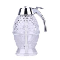 200ML Acrylic Honey Dispenser Jar Container Cup Juice Syrup Kettle Kitchen Bee Drip Bottle