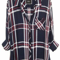 Rails Hunter Plaid Shirt in Patriot/Red/White