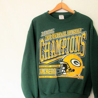 Vintage 1995 Green Bay Packer NFC Central Division Champions Sweatshirt
