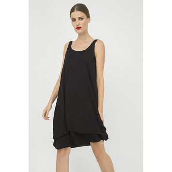 Black Round Neck Sleeveless Summer Dress