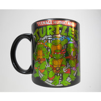 20 oz. Teenage Mutant Ninja Turtles Black Action Group Laser Mug