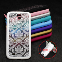 Samsung Galaxy Cover + Free Gift Film S4 I9500/S5 G9006V Retro Damask Pattern Engraved Matte Case Cover