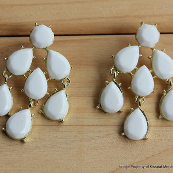 White Statement Earrings Kate Spade Earring Stud,Wedding Bridesmaids Gifts,Free Gift Box Packaging Available