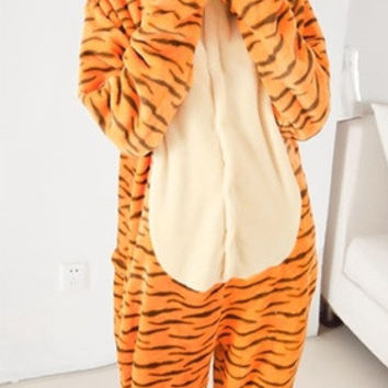 New 2015 jump tiger Cosplay Costume Animal Suits Onesuit Pyjamas Pajamas Sleepwear Party Dress One Piece = 1958066628
