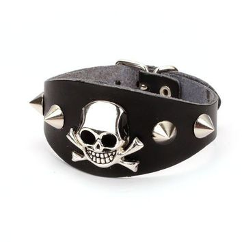Rock Style Rivet Leather Skull Brac.. on Luulla