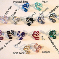 "No Piercing ""Curling Ivy"" Helix Ear Cuff for Upper Ear 1 Cuff COLOR CHOICES Wedding, Prom, Quinceanera"
