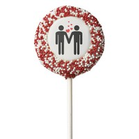 Valentine's Day Love Gay LGBT Pride Chocolate Dipped Oreo Pop