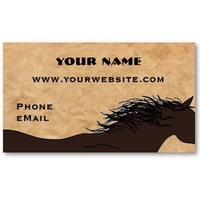 Western Horse Silhouette Business Cards from Zazzle.com
