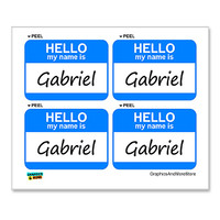 Gabriel Hello My Name Is - Sheet of 4 Stickers