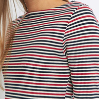 BDG Striped Boat Neck Dress - Urban Outfitters